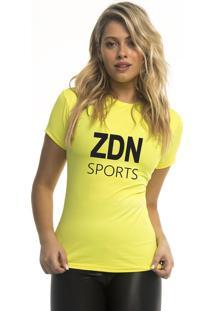 Camiseta Poliamida Isla Zdn Amarela