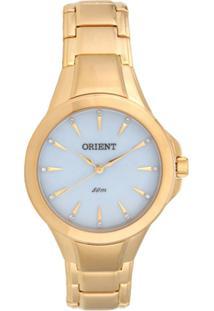 0c0e6d17ac1 Relógio Feminino Orient Analógico Fgss0084-A1Kx - Unissex-Dourado