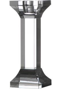 Castiçal Cristal Óptico Royal 9462 Iris 16Cm Transparente