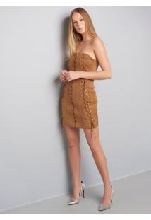 Vestido Louise Ve Louise-Bege-M