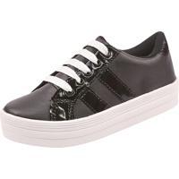 69678fc47f8828 Sapatênis Flatform Preto feminino | Shoes4you