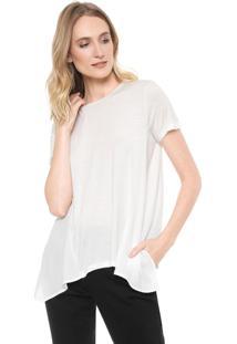 Camiseta Ana Hickmann Recortes Off-White