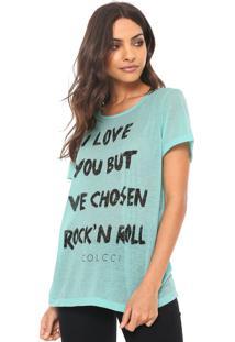 Camiseta Colcci Rock'N Roll Verde