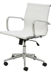 Cadeira Sevilha Eames Baixa Cromada Tela Branca - 38049 Sun House