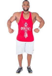 Regata Império Fitness Anatomic Life Style Vermelha