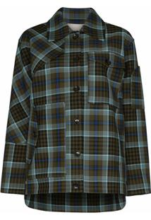 Tibi Spencer Plaid Jacket - Verde