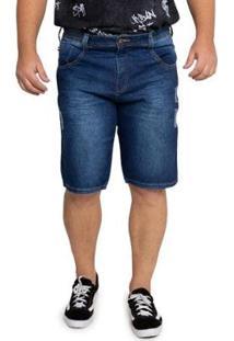 Bermuda Jeans Biotipo Plus Size Masculina - Masculino-Azul