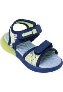 Sandália Infantil Azul Com Luzinha