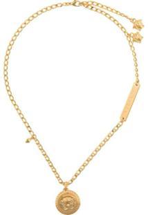 Versace Medusa Pendant Short Necklace - Dourado