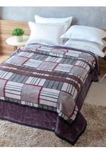 Cobertor Casal Jolitex Tradicional Cinza