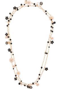 Edward Achour Paris Flower Multi-Strand Necklace - Dourado
