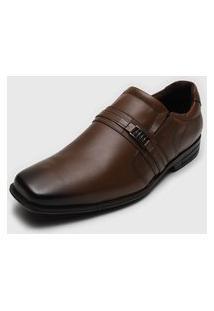 Sapato Social Ferracini Envernizado Marrom