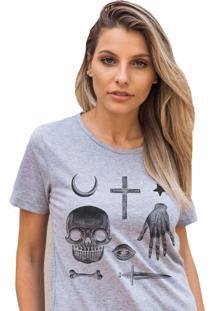 Camiseta Basica My T-Shirt Amuletos Creep Mescla