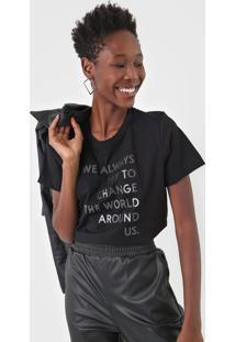 Camiseta Forum Change The World Preta