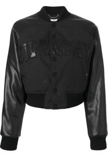 Givenchy Jaqueta Bomber Cropped - Preto