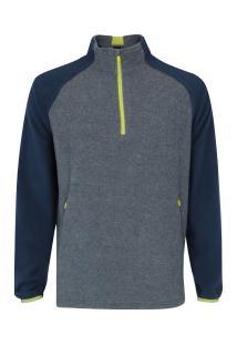 39b11f88cea29 Blusa De Frio Fleece Nord Outdoor Bicolor - Masculina - Cinza Esc Azul Esc