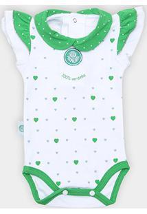 Body Bebê Palmeiras Cotton Coração - Feminino