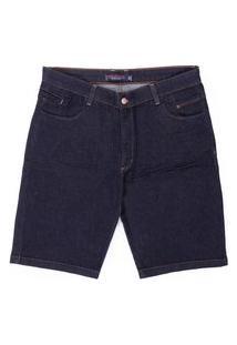 Bermuda Jeans Plus Size Prs Bordado Azul