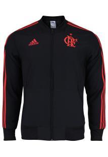 Jaqueta Do Flamengo Viagem 2018 Adidas - Masculina - Preto/Vermelho