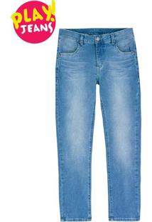 Calça Infantil Menino Com Elastano Hering Kids Play Jeans