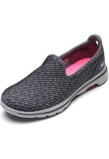 Slipper Skechers Go Walk 5-Miracle Cinza