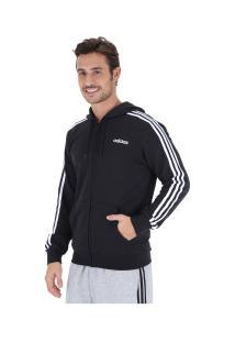Jaqueta De Moletom Com Capuz Adidas 3S Fz French Terry - Masculina - Preto