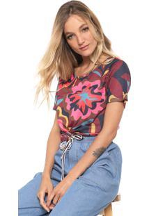 Camiseta Cantão Floral Bold Roxa