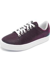 Tênis Dafiti Shoes Glitter Rosa/Verde