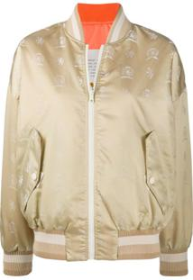 Hilfiger Collection Jaqueta Bomber Dupla Face Com Estampa De Logo - Neutro