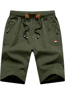 Bermuda Masculina Com Cordão - Verde Exército Xg