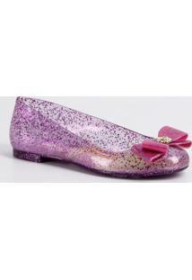 Sapatilha Infantil Glitter Princesa Bela Disney