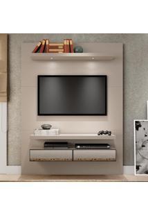 Painel Para Tv Tb106E 100% Mdf Fendi Com Espelho - Dalla Costa