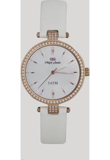621bec4be60 Relógio Analógico Philiph London Feminino - Pl81020112F Branco - Único