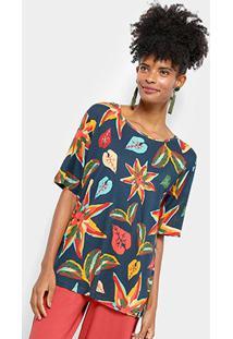 Camiseta Cantão Estampa Entardecer Feminina - Feminino
