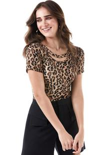 T-Shirt Richini Animal Exótico Marrom