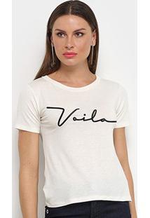 Camiseta Aura Voilá Feminina - Feminino