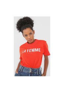 Camiseta Colcci La Femme Vermelho