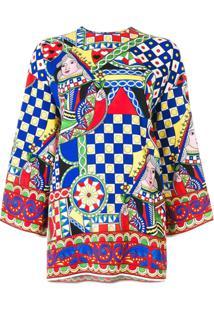 Dolce & Gabbana Túnica 'Signature' Em Seda Mista - Estampado