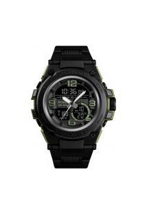 Relógio Skmei Digital -1452- Preto E Verde