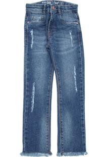 Calça Jeans Malwee Kids Menina Lisa Azul