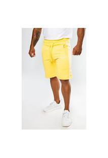 Bermuda Short Moletom Color Summer Premium Amarelo