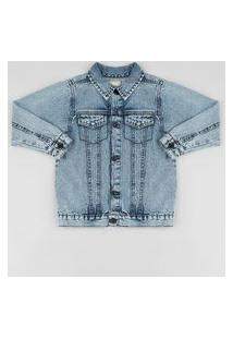 Jaqueta Jeans Infantil Azul Claro