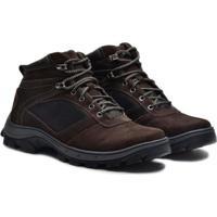 aeb2898d35 Sapato Coturno Boot Em Couro Nobuck Masculino Adventure - Masculino-Cafe