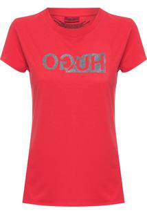 Camiseta Feminina Logo - Vermelho
