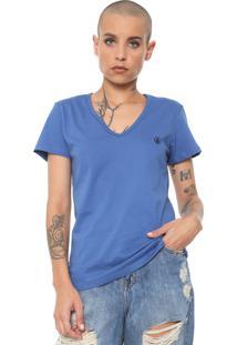 Camiseta Volcom Silk Basic Circle Stone Azul