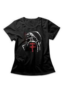 Camiseta Feminina Fullmetal Alchemist Al Preto