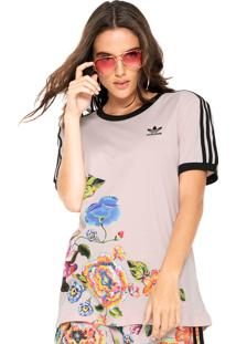 Camiseta Adidas Originals + Farm Floral Rosa