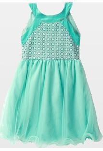 Vestido Cacau Kids Adele Azul