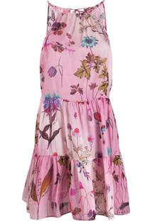 Stella Mccartney Vestido Curto Trippy Floral - Rosa