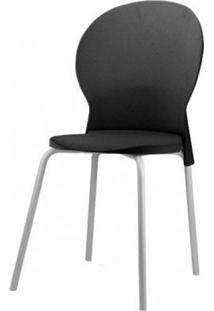Cadeira Luna Assento Preto Base Cinza - 53823 - Sun House
